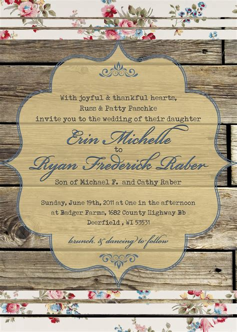 country wedding invitations the turquoise penguin country chic wedding invitation
