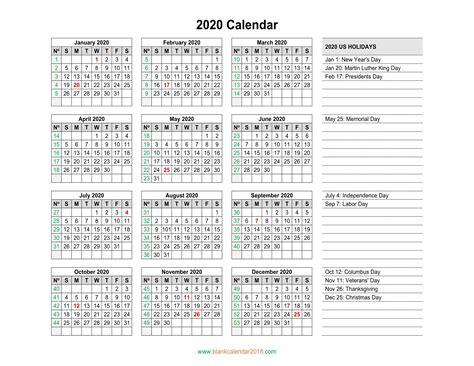 blank holidays calendar  landscape