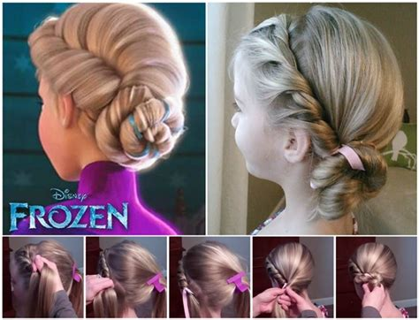 frozen hairstyle wonderful diy disney frozen coronation hairstyle