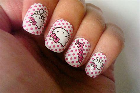 imagenes de uñas acrilicas de hello kitty u 241 as de hello kitty u 241 as decoradas