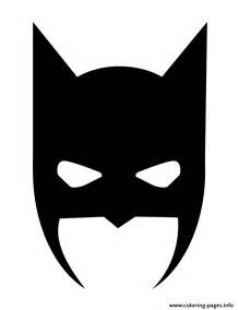batman mask halloween silhouette coloring pages printable
