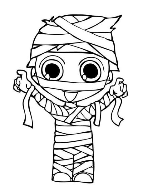 Mummy Coloring Pages by Mummy Costume Coloring Pages Coloring