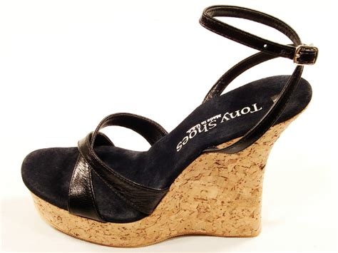 high heel cork wedge sandals tony shoes w543 5 cork wedge high heel platform ankle