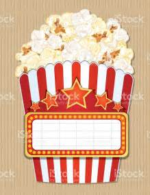popcorn template marquee template blank theater or casino