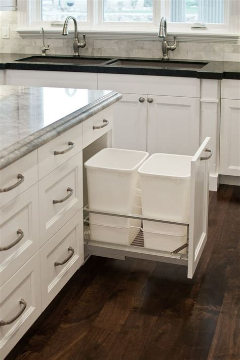 in cabinet trash cans for the kitchen 8 ways to hide or dress up an ugly kitchen trash can