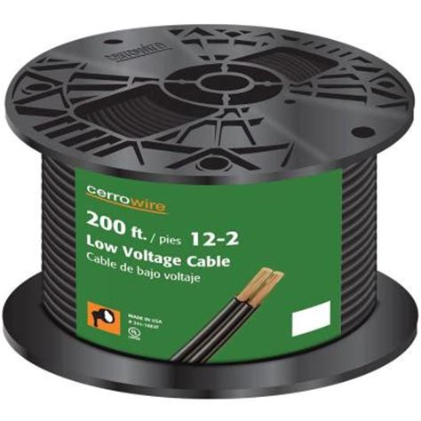 12 2 landscape lighting wire cerrowire 200 ft 12 2 black stranded landscape lighting wire 241 1602f the home depot