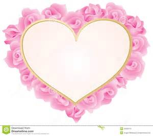 heart with roses frame royalty free stock photo image