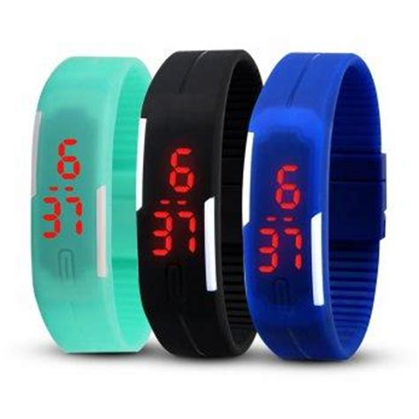 Jam Tangan Gelang Led Bandung harga anti air jam gelang digital led waterproof anti air tangan pricenia
