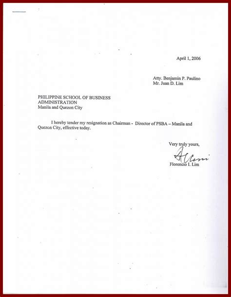 Resignation Letter Effective Immediately Pdf Tender My Resignation Letter Resignation Letter