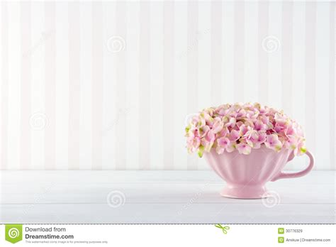 flowers in a shabby chic mug stock image image of floral