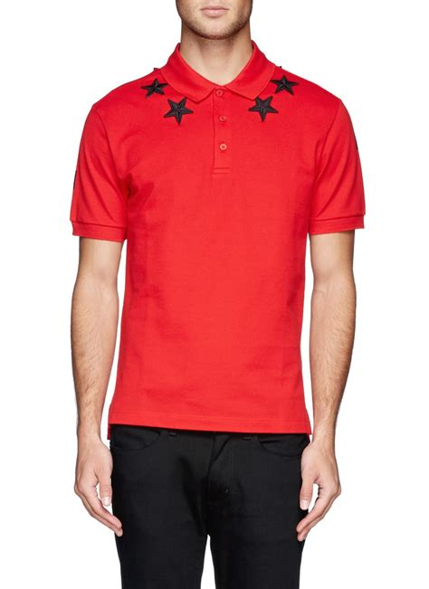 Polo Shirt Hitam Jaspirow Shopping givenchy embroidery polo shirt in for lyst