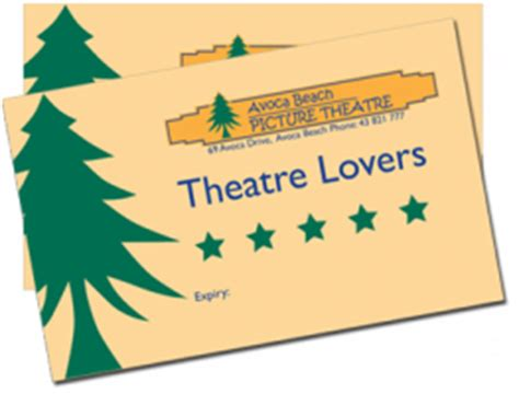 Theatre Tickets Gift Card - tickets for avoca theatre vouchers and gift cards in avoca beach from ticketbooth