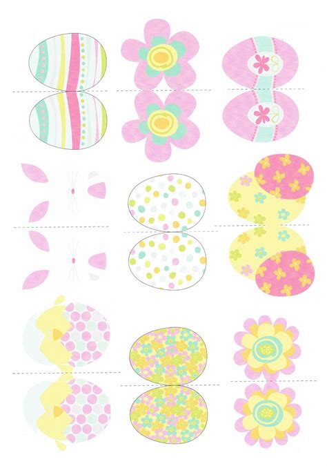 printable easter ornaments white life 169 easter table decoration for crafting