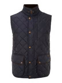 polo ralph quilted vest in blue for navy lyst