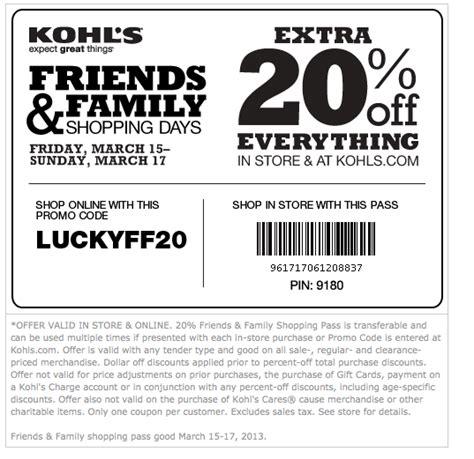 free printable kohls coupons free printable coupons kohls coupons
