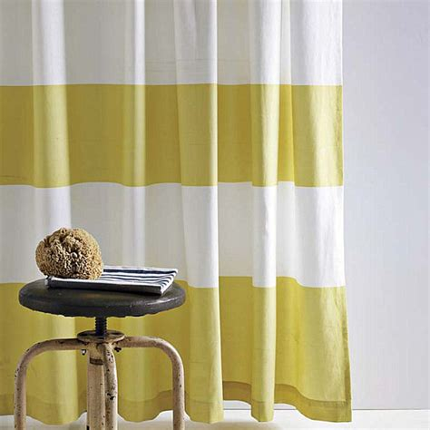 striped yellow curtains refreshing shower curtain designs for the modern bath