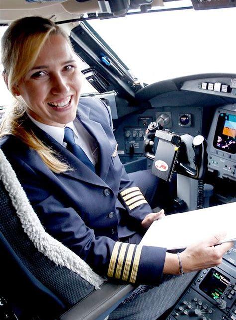 commercial woman pilot alja bercic ivanus slovenian female airline captain