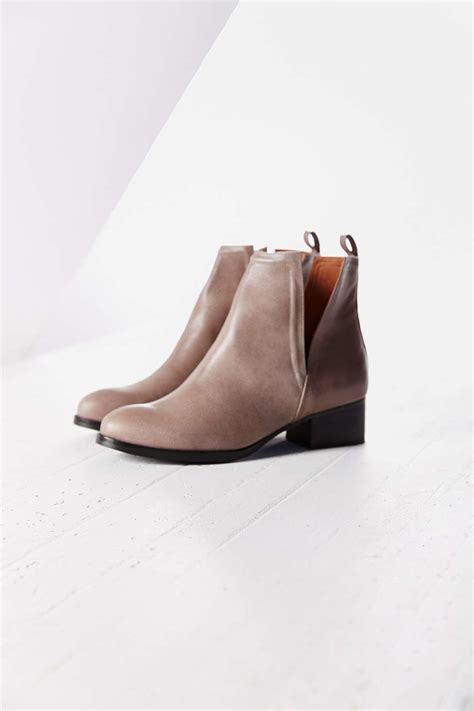 jeffrey cbell oriley cutout ankle boot in gray lyst