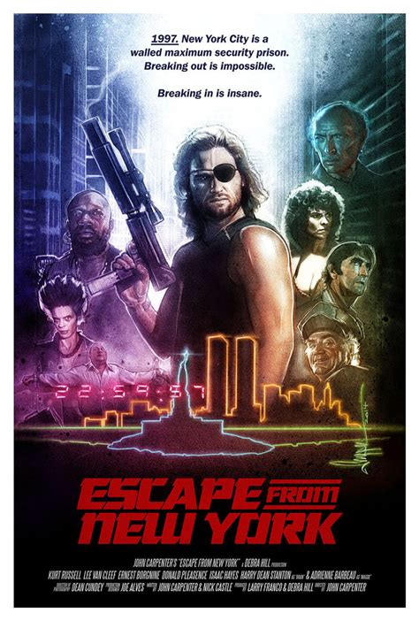Poster Escape From New York 30x40cm the geeky nerfherder poster escape from new