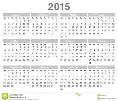 date du new year 2015 calendrier annuel de 2015 ans lundi d abord anglais
