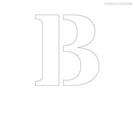 printable stencils letters large printable letter stencils stencil letter b