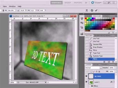 tutorial photoshop cs5 3d animation 3d text animation tut photoshop cs5 youtube