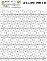 pattern for equilateral triangle equilateral triangles pattern sheet patchwork pinterest