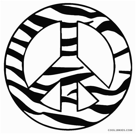 free printable peace sign coloring pages cool2bkids