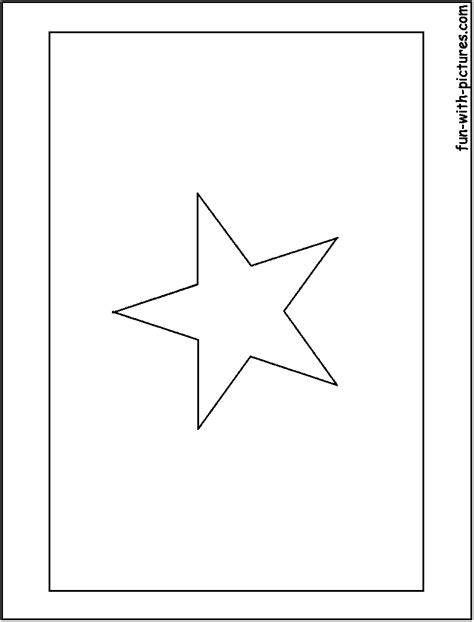 vietnam flag coloring page