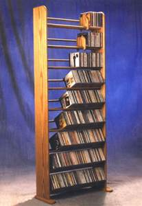 Diy Cd Rack by How To Build A Wooden Cd Storage Rack Plans Diy Free