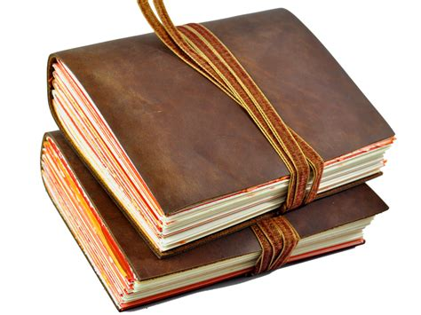 Handmade Leather Journal - santiago one of a handmade leather journal