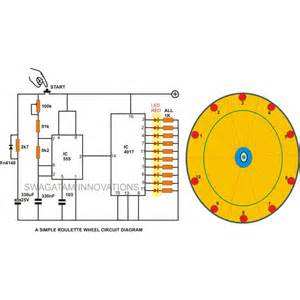 10 led simple wheel circuit diagram