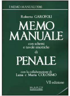 tavole sinottiche memo manuale con schemi e tavole sinottiche di penale