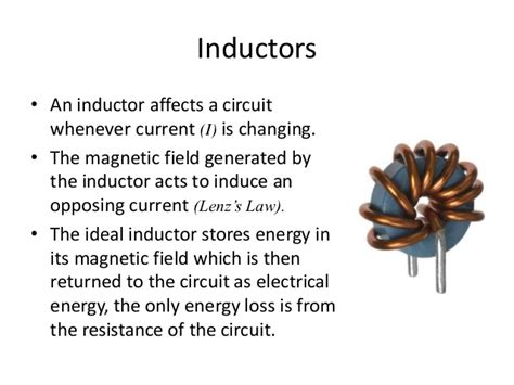 a what is the inductance of the inductor inductors in ac circuits
