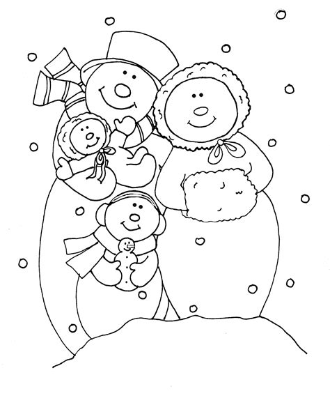 Snowman Family Coloring Pages free dearie dolls digi sts snowman family