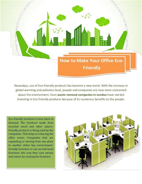 Your Office Eco Friendly Inside And Out by How To Make Your Office Eco Friendly