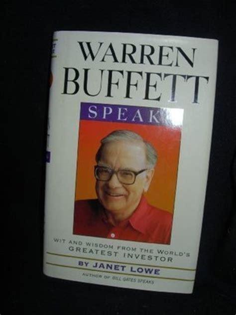 warren buffett speaks by warren buffett reviews