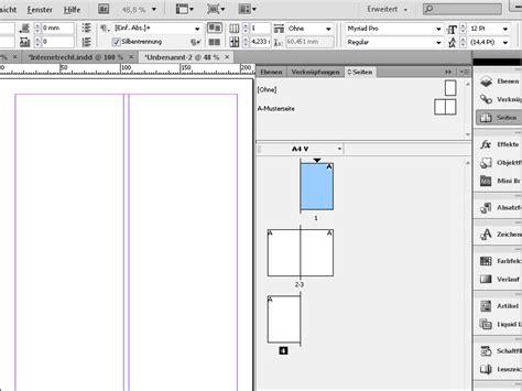 Indesign Vorlage Bearbeiten Indesign Musterseite Musterseite Erstellen Musterseite Bearbeiten Indesign Tutorials De