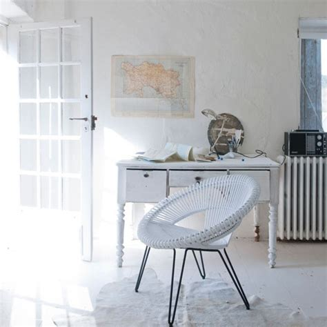 White Home Office Furniture Uk All White Home Office With Vintage Furniture How To Decorate With White Decorating