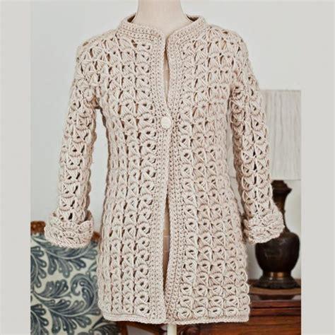 Wst 10259 Flower Knit Cardigan 19 new crochet patterns crochet tutorials fashion