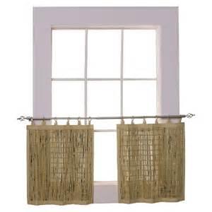 Target Bamboo Blinds Versailles Bamboo Ring Top Curtain Tier Set Target