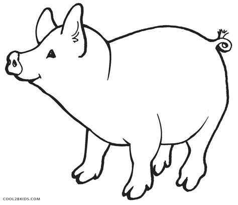 cartoon pig coloring coloring pages
