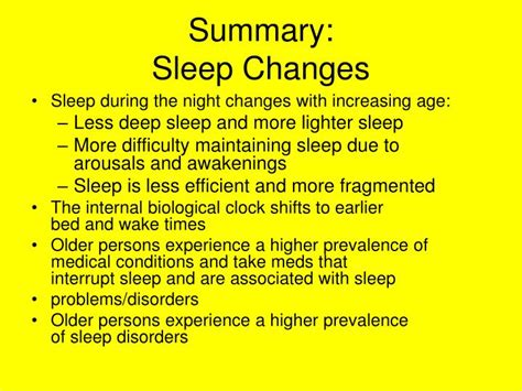 Sleepers Summary by Ppt Sleep And Aging Powerpoint Presentation Id 4774377