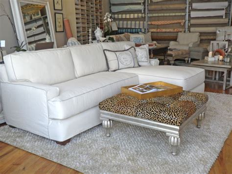 white slipcovered sectional quatrine white slipcovered new yorker chaise sectional
