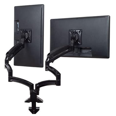 dual monitor arm desk mount chief kontour k1d230b desk mount dual monitor arms w 3