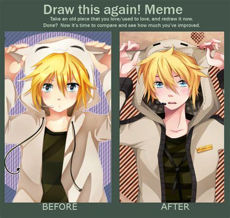 len 6v kagamine len before after meme by squchan on deviantart