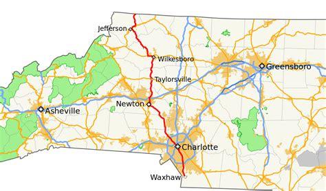 show me a map of carolina carolina highway 16