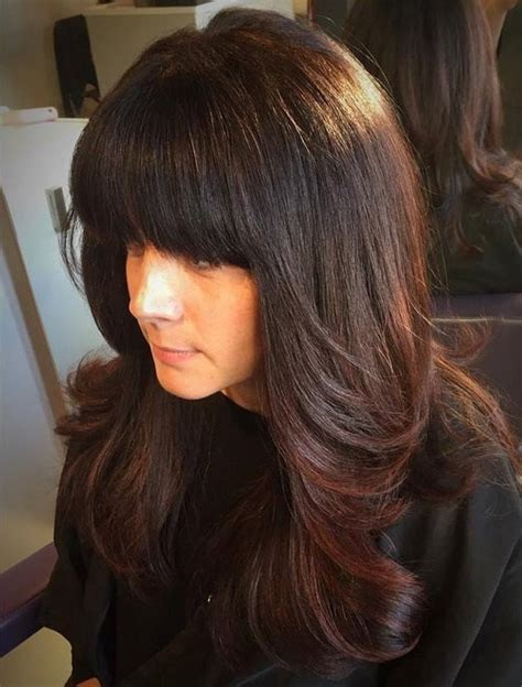hair cuts with layers and bangs for long hair in woman over 40 40 cute and effortless long layered haircuts with bangs