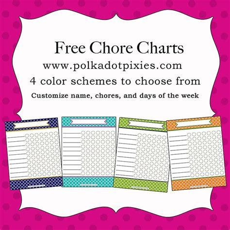 customizable and printable lewis dot 35 best free chore charts for kids images on pinterest