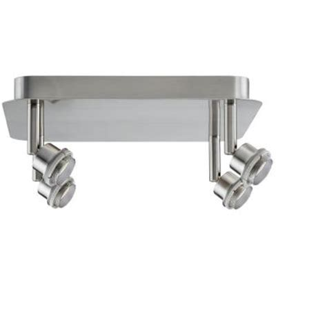 spotlight brushed nickel track lighting pm 60105